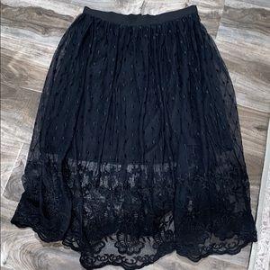 Forever 21 Contemporary Black Knee Skirt